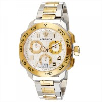 Versace Dylos Men's Chrono Men's Silver Dial Stainless Steel Band Watch