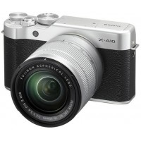 Fujifilm X-A10 - 24.3 MP Mirrorless Digital Camera with XC 16-50mm F3.5-5.6 OIS II Lens, Silver