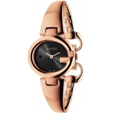 Gucci Women's Black Dial Color Metal Strap Watch - YA134509