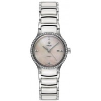 Rado Women's White Mother of Pearl Dial Stainless Steel and Ceramic Band Watch - R30160912