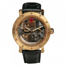 Tonino Lamborghini Men's Skeletonized Dial Leather Band Watch - LS4490-BL/G